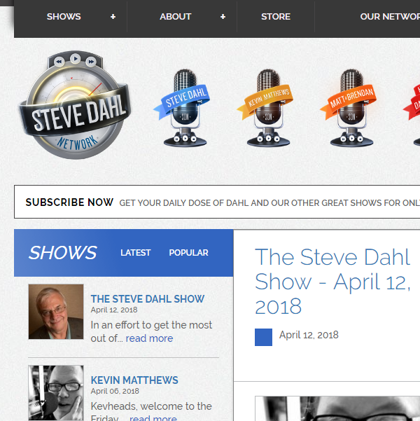 A large radio podcasts platform, e-Commerce, custom audio